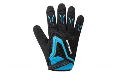 shimano gants freeride noir bleu