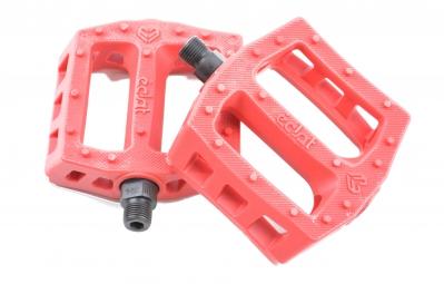 eclat pedales plastique surge rouge