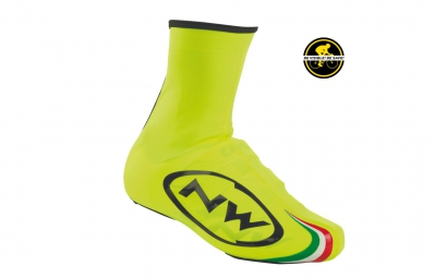 northwave paire de couvres chaussures sonic jaune fluo