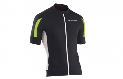 northwave maillot mc sonic noir vert