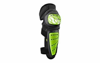 ixs genouilleres avec protege tibia mallet vert noir