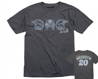 troy lee designs t shirt mcqueen open face 2 gris