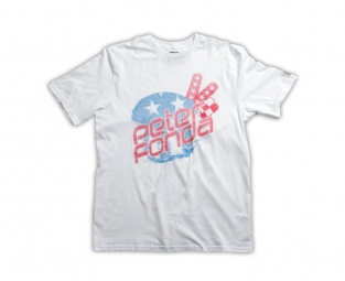 troy lee designs t shirt peter fonda helmet blanc l