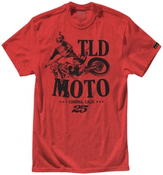 troy lee designs t shirt tld moto htr rouge
