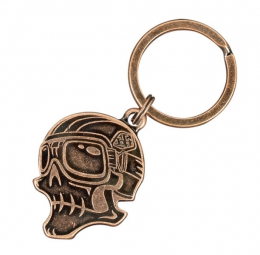 troy lee designs porte cles skully bronze