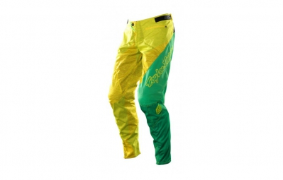 troy lee designs pantalon enfant sprint turismo jaune vert