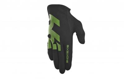 661 sixsixone 2015 paire de gants comp noir vert