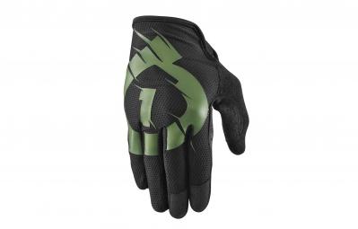 661 sixsixone paire de gants raji noir vert