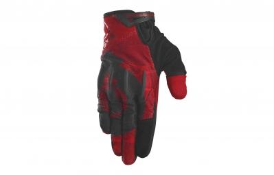 661 sixsixone paire de gants evo rouge noir