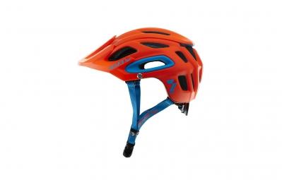 casque seven m2 rouge fluo mat bleu