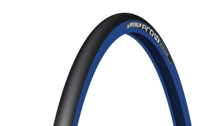 michelin pneu pro4 service course 700x23mm souple bleu