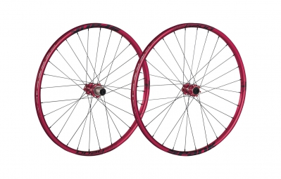 spank paire de roues 27 5 oozy trail 260 15mm 12x142mm rouge