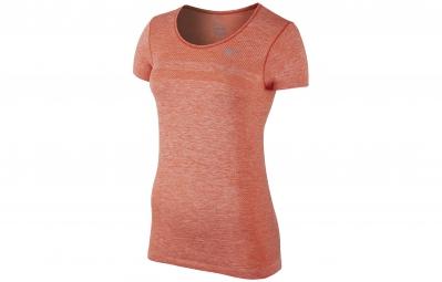 nike maillot dri fit knit orange femme