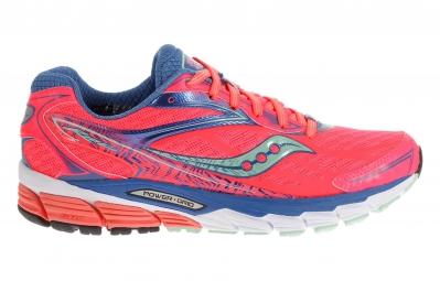 saucony chaussures femme ride 8 corail bleu