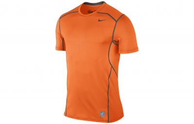 nike maillot pro combat hypercool fitted orange homme