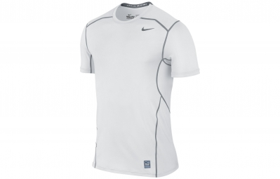 nike maillot pro combat hypercool fitted blanc homme