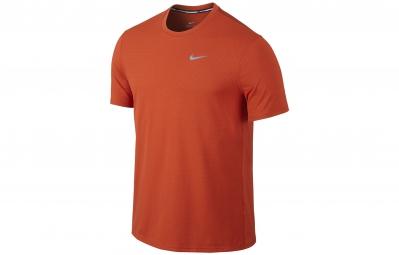 nike maillot dri fit contour orange homme