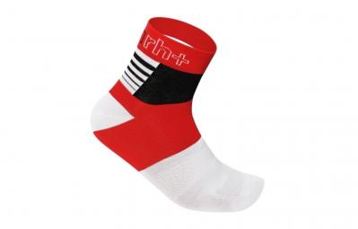 zero rh paire de chaussettes zeta 9 rouge blanc noir