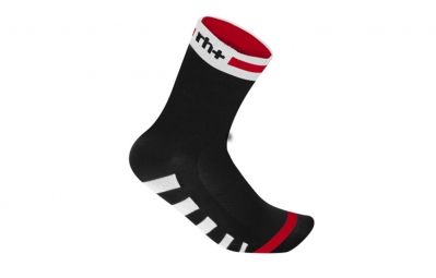 zero rh paire de chaussettes ergo 13 noir blanc rouge