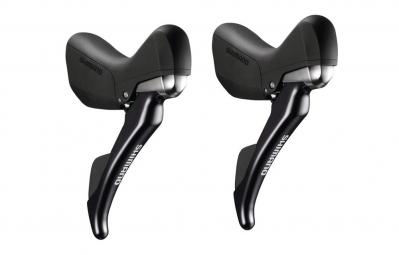 shimano 2016 paire de manette hydraulique st r685 2x11 noir