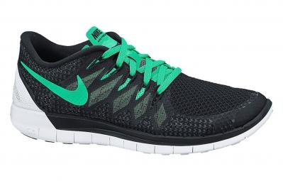 nike chaussures free 5 0 noir vert femme