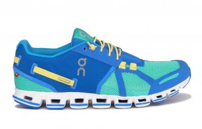 on running cloud bleu vert