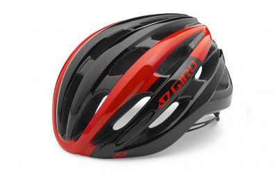 casque giro foray noir rouge brillant