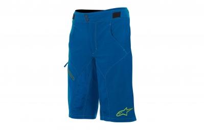 alpinestars short avec peau de chamois outrider bleu