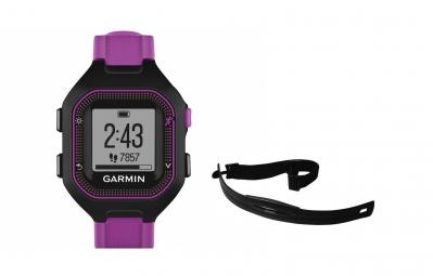 garmin montre gps forerunner 25 pack hrm noir violet