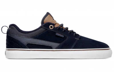 paire de chaussures bmx etnies rap ct natahn williams bleu marron blanc