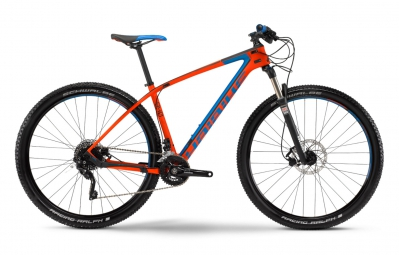 haibike 2016 velo complet 29 greed 9 40 carbone rouge bleu