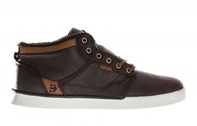 paires de chaussures bmx etnies jefferson mid marron blanc