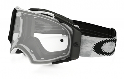 oakley masque airbrake mx matte white clear ref 57 980