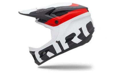 casque integral giro cipher rouge mat noir blanc