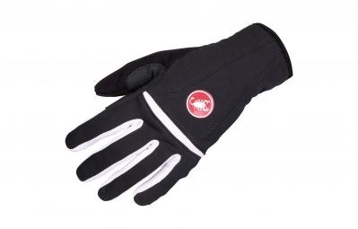 castelli gants femme cromo glove noir blanc