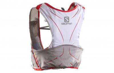 salomon sac a dos s lab adv skin3 5set blanc rouge