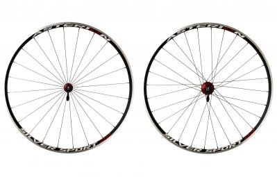 asterion paire de roues silver sport 22 rouge corps de roue libre shimano
