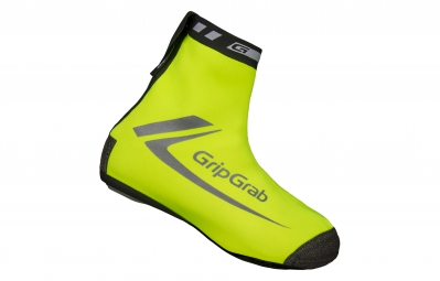 gripgrab sur chaussures race thermo jaune fluo hi vis