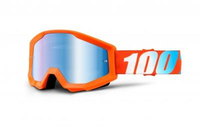 100 masque strata orange ecran miroir bleu