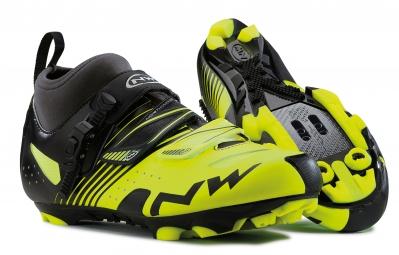 paire de chaussures northwave cx tech cyclo cross noir jaune