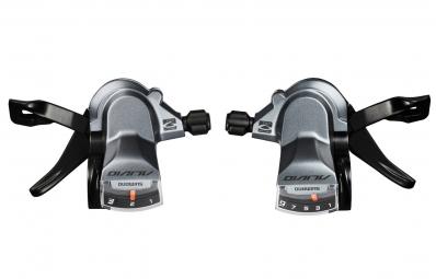 paire de commandes shimano alivio sl m4000 3x9v gris