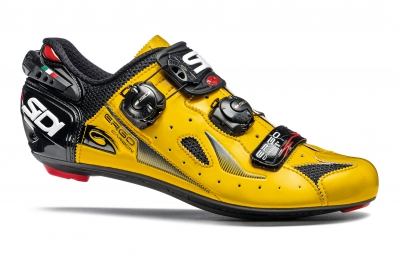 chaussures route sidi ergo 4 jaune noir