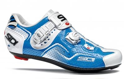 chaussures route sidi kaos air blanc bleu
