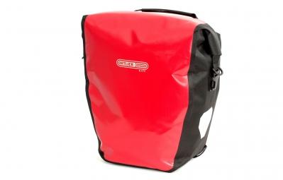 ortlieb paire de sacoches porte bagage arriere back roller city rouge noir