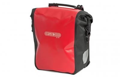 ortlieb paire de sacoches porte bagage avant front roller city rouge noir