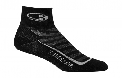 icebreaker chaussettes run ultra light mini noir