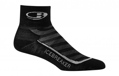 icebreaker paire de chaussettes femme run light mini black pearl
