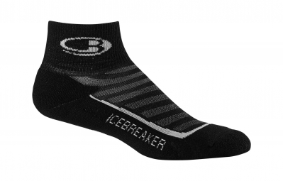 icebreaker paire de chaussettes homme run light mini black pearl