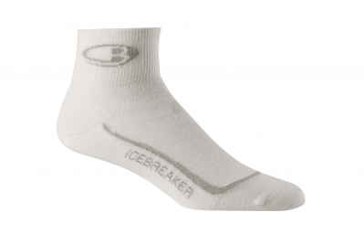 icebreaker chaussettes run ultra light mini blanc