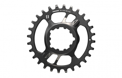 sram plateau x sync direct mount offset 6mm acier 28 dents 11 vitesses noir